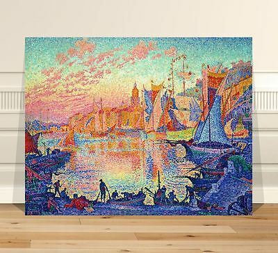 Paul Signac The Port of Saint Tropez  ~ FINE ART CANVAS PRINT 8x10""
