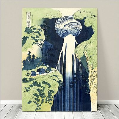 "Beautiful Japanese Art ~ CANVAS PRINT 8x10"" ~ Hokusai Amida Falls"
