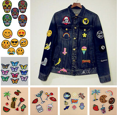 Cute Embroidery Sew/Iron On Patch Badge Bag Clothes Fabric Applique Craft Gift