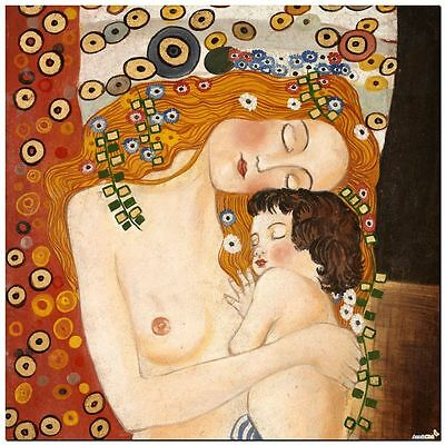 Stunning Classic Art ~ Mother and Baby by Gustav Klimt ~ CANVAS PRINT 12x12""