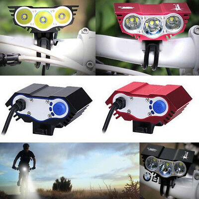Tactical 20000LM 3X T6 LED Bicycle Headlight Bike Head Light Lamp Headlamp