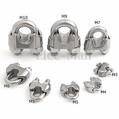 M3-M10 Wire Rope Cable Clip 304 Stainless Steel U Clamp Ring Accessories 9 Size