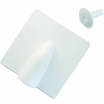 White Brick Buster & Bush Tidy Cap Kit -Indoor & Outdoor Single Cable Hole Cover