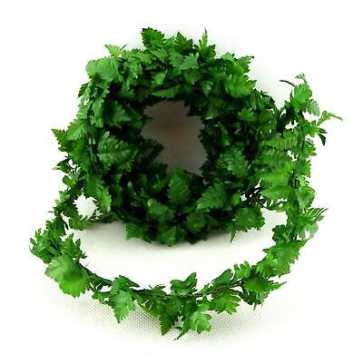 Dolls House Green Fern Leaf Garland Miniature Roping Decoration 10' long