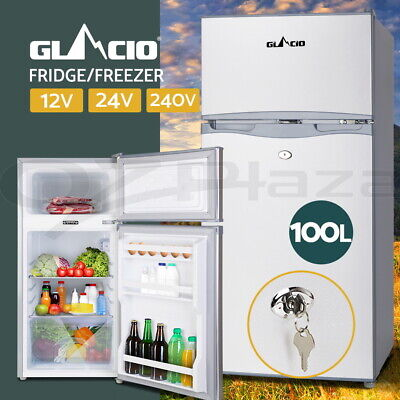 Glacio 100L Portable Bar Fridge Freezer 12V/24V/240V Camping Caravan Home Boat