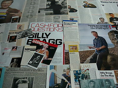 Billy Bragg - Magazine Cuttings Collection (Ref Xd10)