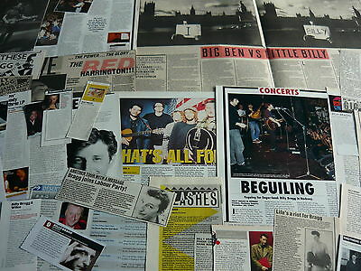 Billy Bragg - Magazine Cuttings Collection (Ref Xd9)