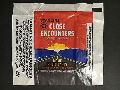 "Scanlens ""close Encounters"" Card Wrapper"
