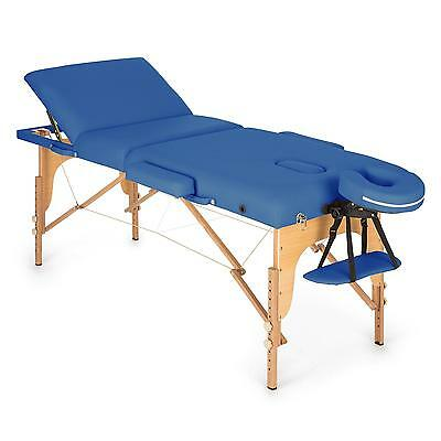 Table de massage Klarfit 210 cm 200 kg pliante mousse cellules fines - bleu