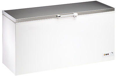 Price Drop - 550ltr Commercial Chest Freezer Stainless Steel Lid