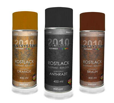 Rosteffektlack Spraydosen Set 3 farbig - 3x 400ml - Ratlook Rostoptik Rostspray