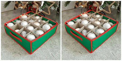New Christmas Tree Bauble Decorations Storage Box Holds 64