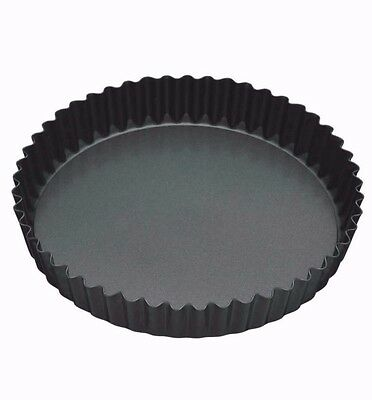 Masterclass Non Stick 23cm Loose Base Fluted Quiche Tin Oven Tin KCMCHB37