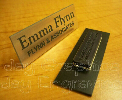 Custom Engraved 1x3 Brushed Copper Name Tag | Badge & Magnet | Employee Magnetic