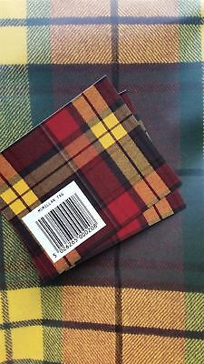 Macmillan SCOTTISH TARTAN LUXURY GIFT WRAP PACK 2 sheets wrapping paper and tags