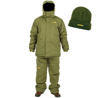 Navitas Apparel NEW Carp Fishing All Season Suit Green + FREE Slouch Beanie