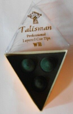1 x Talisman WB Water Buffalo Cue Tip for Pool and Snooker Cues NEW