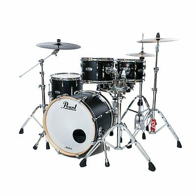 Pearl Masters Maple Complete 4pc Drum Shell Pack - Matte Caviar Black