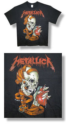 Metallica-NEW Heart Explosive BLACK T Shirt- Large SALE FREE SHIPPING TO U.S.!