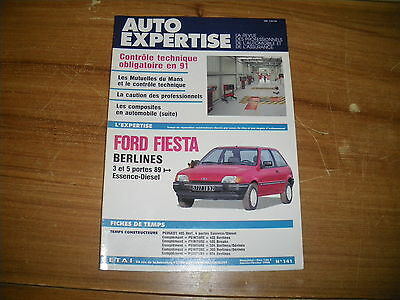 REVUE TECHNIQUE auto expertise FORD FIESTA 3 et 5 portes essence - diesel 1989 >