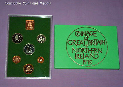 1975 Royal Mint Proof Set Coins For Gb & Ni