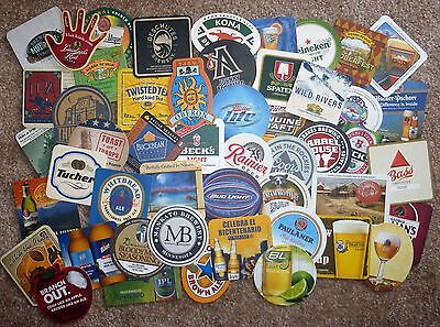 50 different, Designs and Logos from Various Breweries, Beer Coasters - All New
