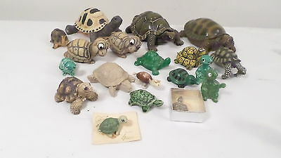 Assorted Lot of Turtle Figurines 1 Candle 1 Made in Japan