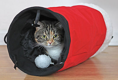 Rosewood Christmas Santa's Trousers Cat Tunnel Xmas Crinkle Material