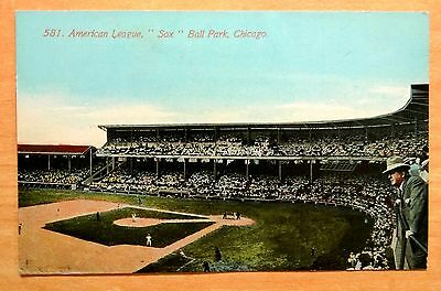 White Sox Baseball Game Comiskey Park Chicago Comiskey in Image Postcard c.1909