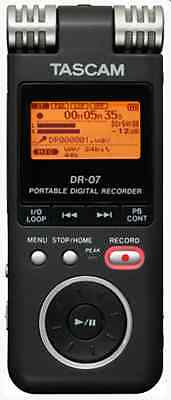 TASCAM DR07/DR-07 Stereo Digital Recorder +2GB (MP3/WAV) Dictaphone *NEW*