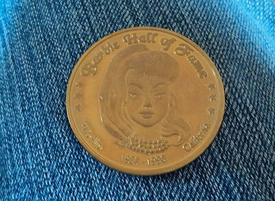 Barbie Hall Of Fame Gold 35Th Anniversary Coin Very Nice ~