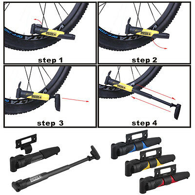 Portable Bicycle Bike Cycle Compact Pump Valves Tyre Tire Tube Inflator ZA