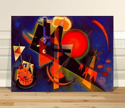 "Wassily Kandinsky In Blue ~ CANVAS PRINT 36x24"" ~  Classic Abstract Art"