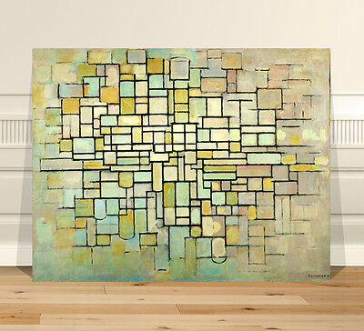 "Piet Mondrian Abstract Trees ~ FINE ART CANVAS PRINT 32x24"" Abstract"