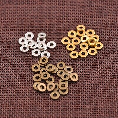 6MM Tibetan  Rings Spacer Beads Jewelry Findings 100Pcs JK3036