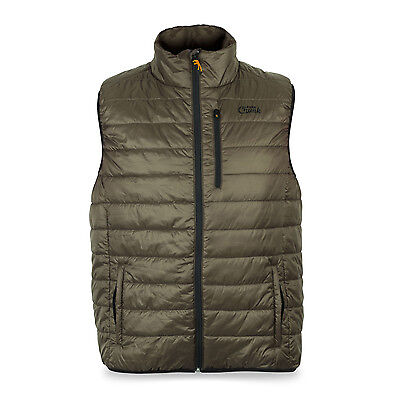 Fox NEW Carp Fishing Khaki Chunk Puffa Gilet Bodywarmer *All Sizes Available*
