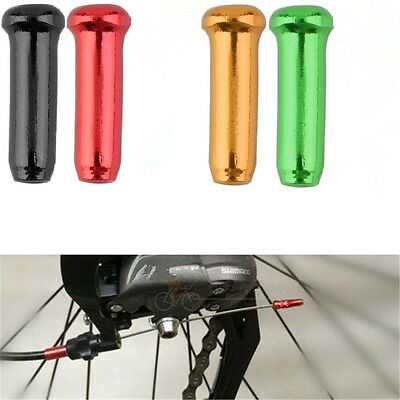 Bike Bicycle Derailleur Inner Cable Wire 50pcs Brake Shifter End Cap Crimps