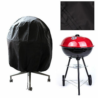 Round BBQ Cover Kettle Barbeque Covers Outdoor Waterproof Furniture Protector