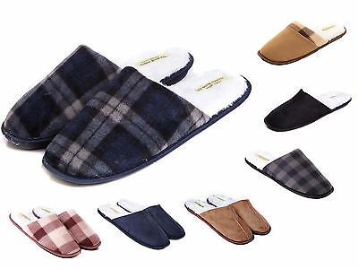Mens Luxury Mule Slippers Size 6 to 13 UK - WARM SLIP ON SLIPPERS - XMAS GIFT