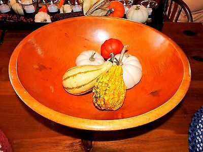 Antique/Vintage Large Wooden Hand Turned Dough Bowl/Circa 1850 - Harvest Bowl