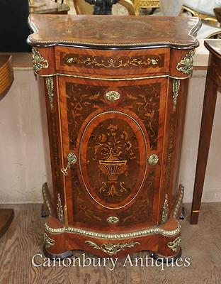 French Louis XVI Cabinet Chest Credenza Marquetry Inlay