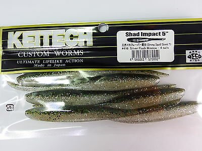 "Keitech - Shad Impact 5"" #416 Silver Flash Minnow"