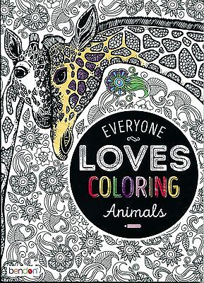 Bendon Animals Adult Coloring Book Paperback New