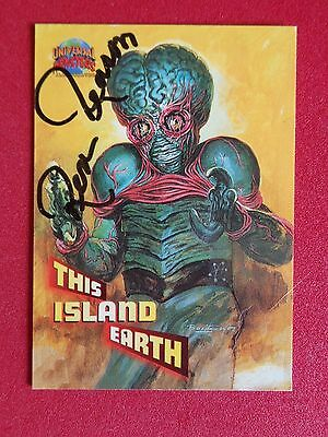 Rex Reason This Island Earth Signed Topps Universal Pictures Trading Card 79