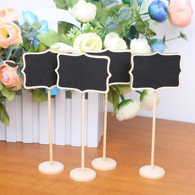 10x Floral Freestanding Wood Chalkboard Wedding Party Table Place Card Signs