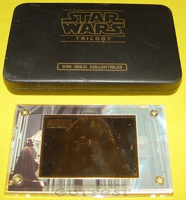 Star Wars - 24k Gold Card Emperor Palpatine 159/1000 von 1997