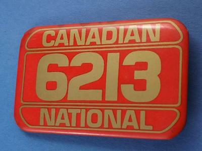 Canadian National Railroad Cn Steam Locomotive 6213 Preserved Toronto Old Button