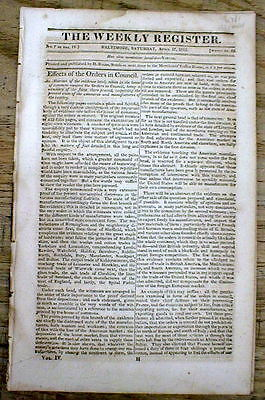 1813 War of 1812 newspaper Warship USS CONSTELLATION challenges British 2 combat