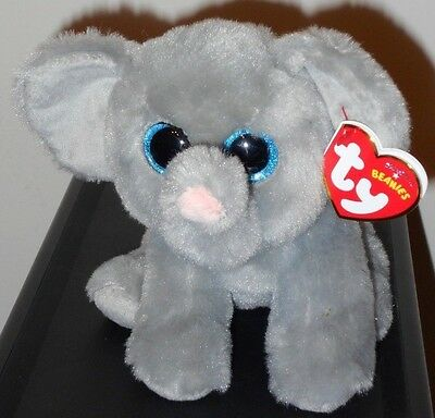 CT* Ty Beanie Baby ~ WHOPPER the Elephant ~ MINT with CREASED TAG ~ NEW
