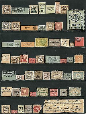 Nazi  Germany  Ww Ii  Ration  Coupons  52-----Great  Assortment